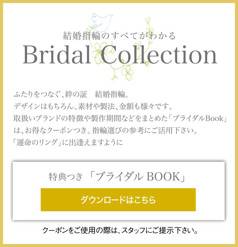 結婚指輪のすべてがわかるBridal Ring 特典つき「ブライダルBOOK」ダウンロードはこちら